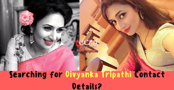 Searching forTV Actress Divyanka Tripathi Contact Details Image