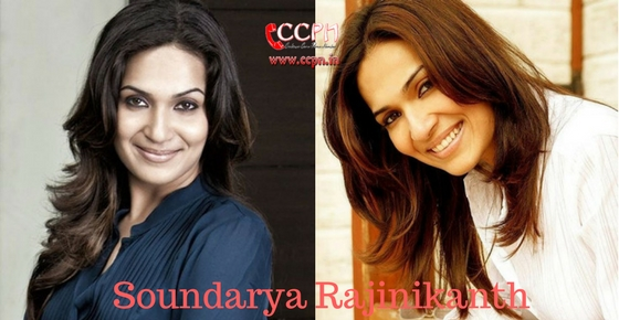 Contact Soundarya Rajinikanth HD Image