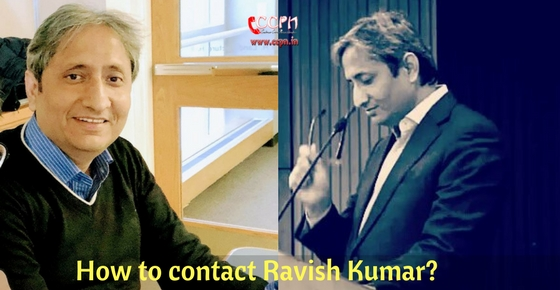 How to contact Ravish Kumar?
