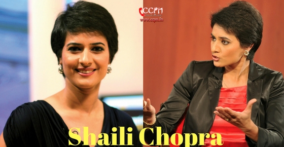 How to contact News Anchor Shaili Chopra?