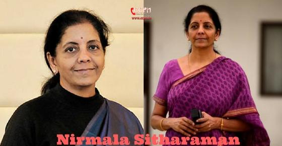 How to contact Nirmala Sitharaman?