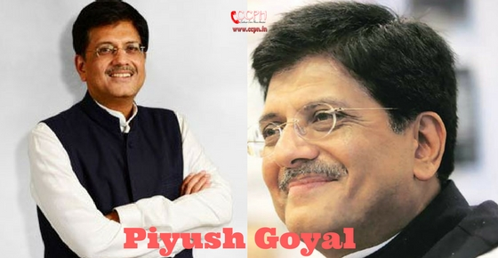 How to contact Piyush Goyal?