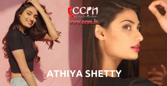 How to contact Athiya Shetty?