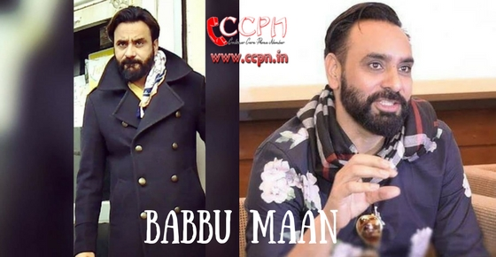 How to contact Babbu Maan?