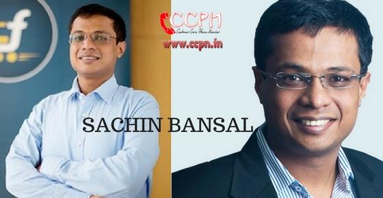How to contact Sachin Bansal?