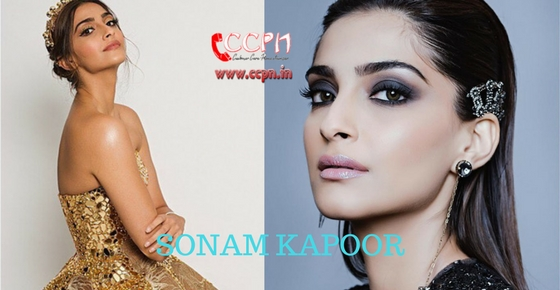 How to contact Actress Sonam Kapoor?