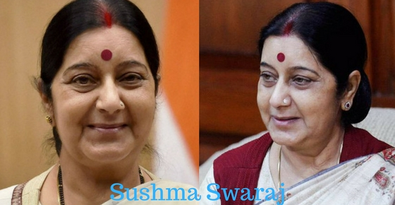 How to contact Sushma Swaraj?