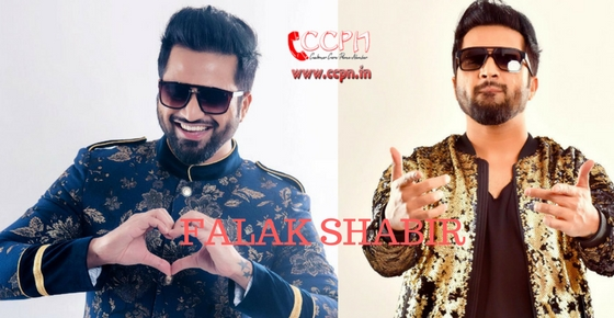 How to contact Singer Falak Shabir?