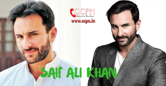 How to contact Saif Ali Khan?