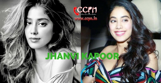 How to contact Actress Jhanvi Kapoor?