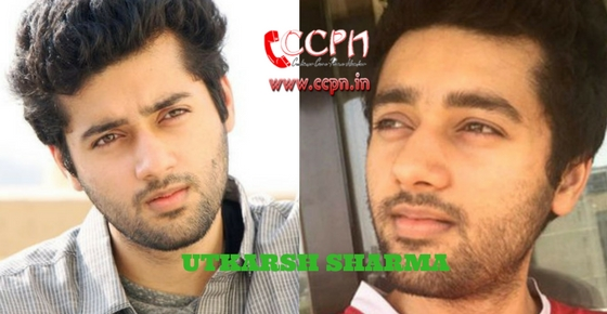 How to contact Actor Utkarsh Sharma?