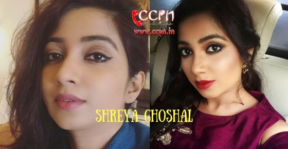 How to contact Female Singer Shreya Ghoshal?