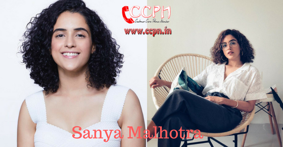 How to contact Actress Sanya Malhotra?