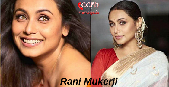 How to contact Actress Rani Mukerji?