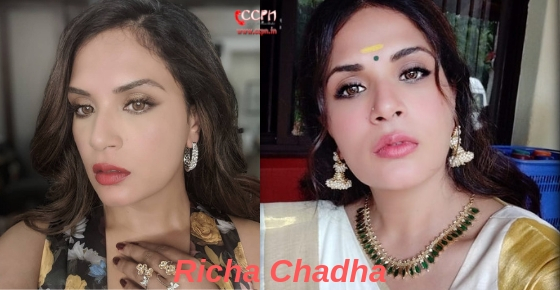 How to contact actress Richa Chadha?