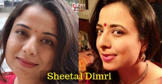 How to contact Sheetal Dimri?