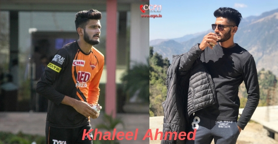 How to contact Cricketer Khaleel Ahmed?