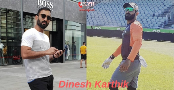 How to contact Cricketer Dinesh Karthik?