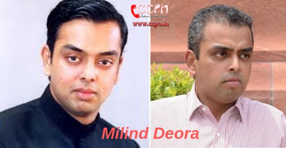 How to contact Politician Milind Deora?