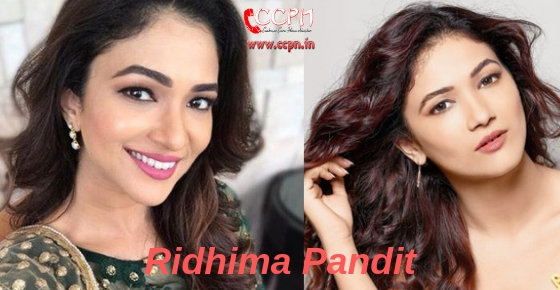 How to contact Model and Actress Ridhima Pandit?