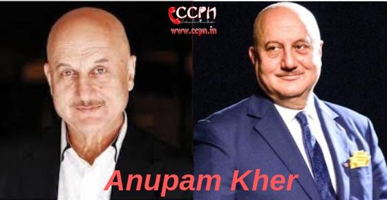 How to contact Anupam Kher?