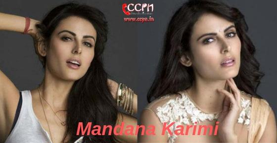 How to contact Model and Actress Mandana Karimi?