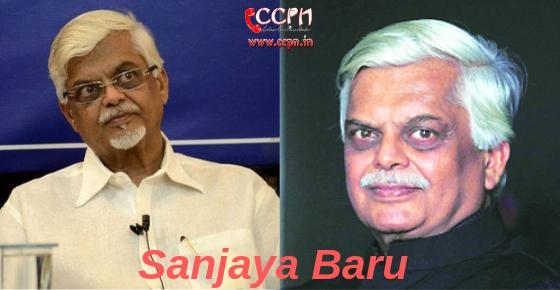 How to contact Sanjaya Baru?