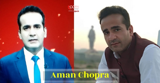 How to contact  Journalist and News Anchor Aman Chopra?