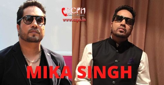 how to contact Mika Singh?