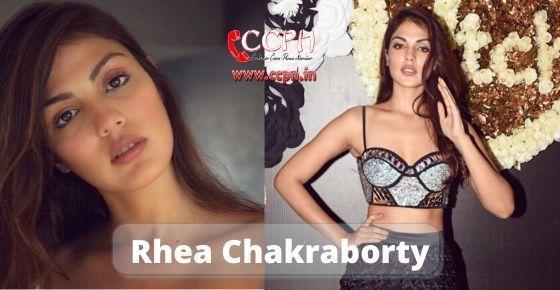 how to contact Rhea Chakraborty?