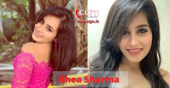 how to contact Rhea Sharma?