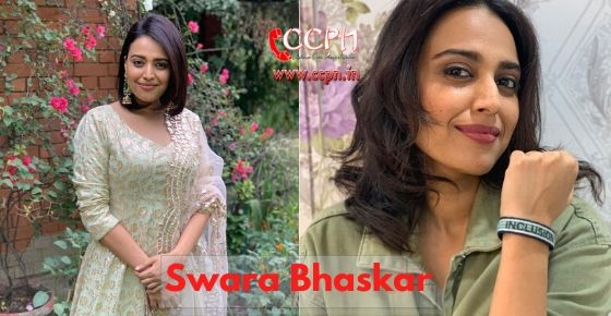 how to contact swara bhaskar?