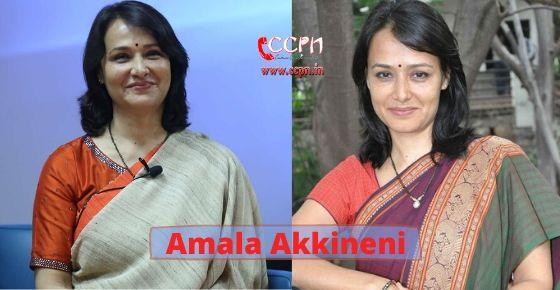 How to contact Amala Akkineni?