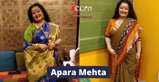 How to contact Apara Mehta?