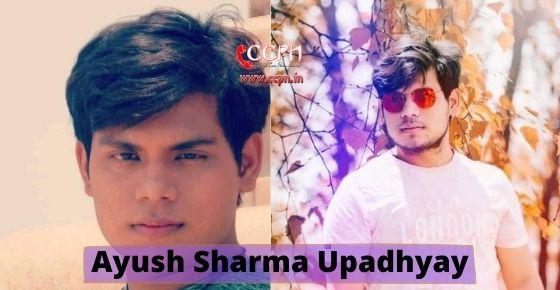 How to contact Ayush Sharma Upadhyay?