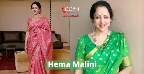 How to contact Hema Malini?