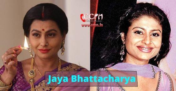 How to contact Jaya Bhattacharya?
