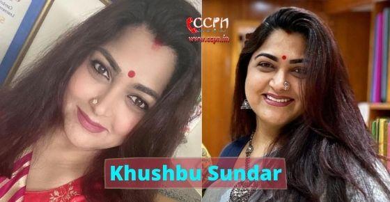 How to contact Khushbu Sundar?