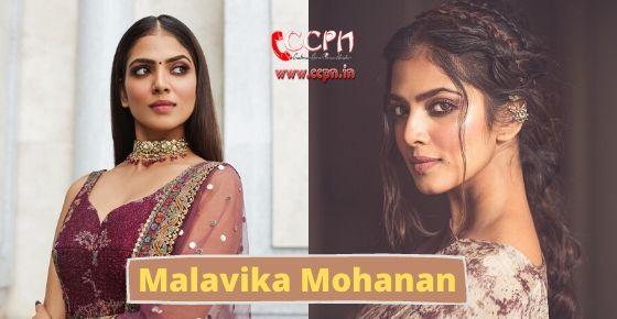 How to contact Malavika Mohanan?