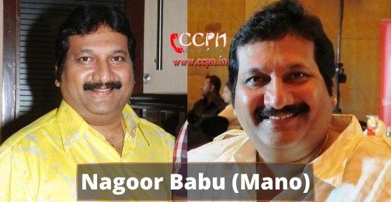 How to contact Nagoor Babu Mano?
