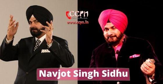 How to contact Navjot Singh Sidhu?