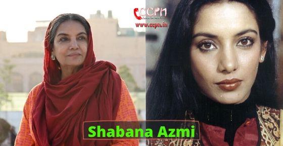 How to contact Shabana Azmi?