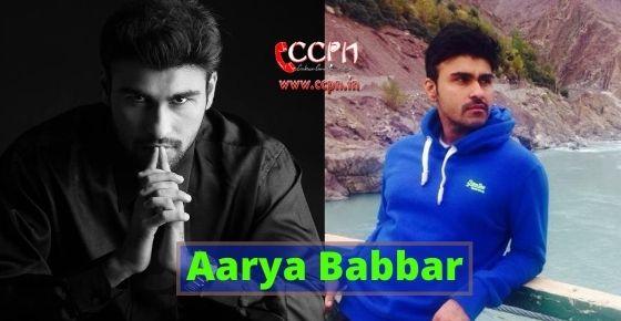 How to contact Aarya Babbar?