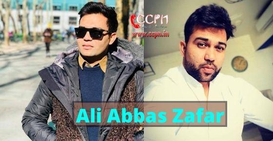How to contact Ali Abbas Zafar?