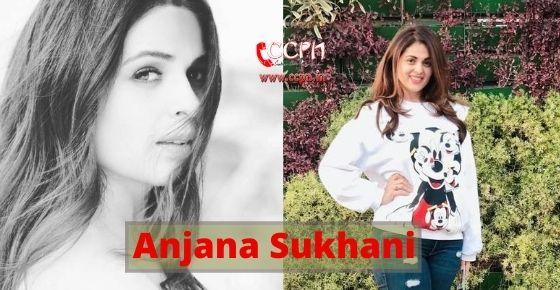 How to contact Anjana Sukhani?