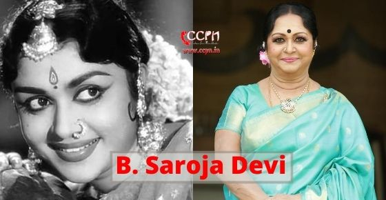 How to contact B. Saroja Devi?