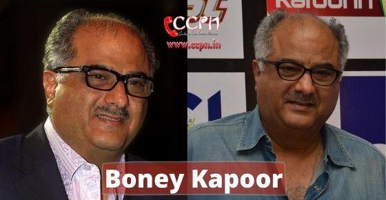 How to contact Boney Kapoor?
