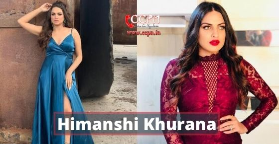 How to contact Himanshi Khurana?