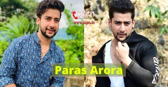How to contact Paras Arora?