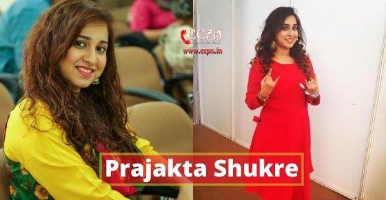 How to contact Prajakta Shukre?